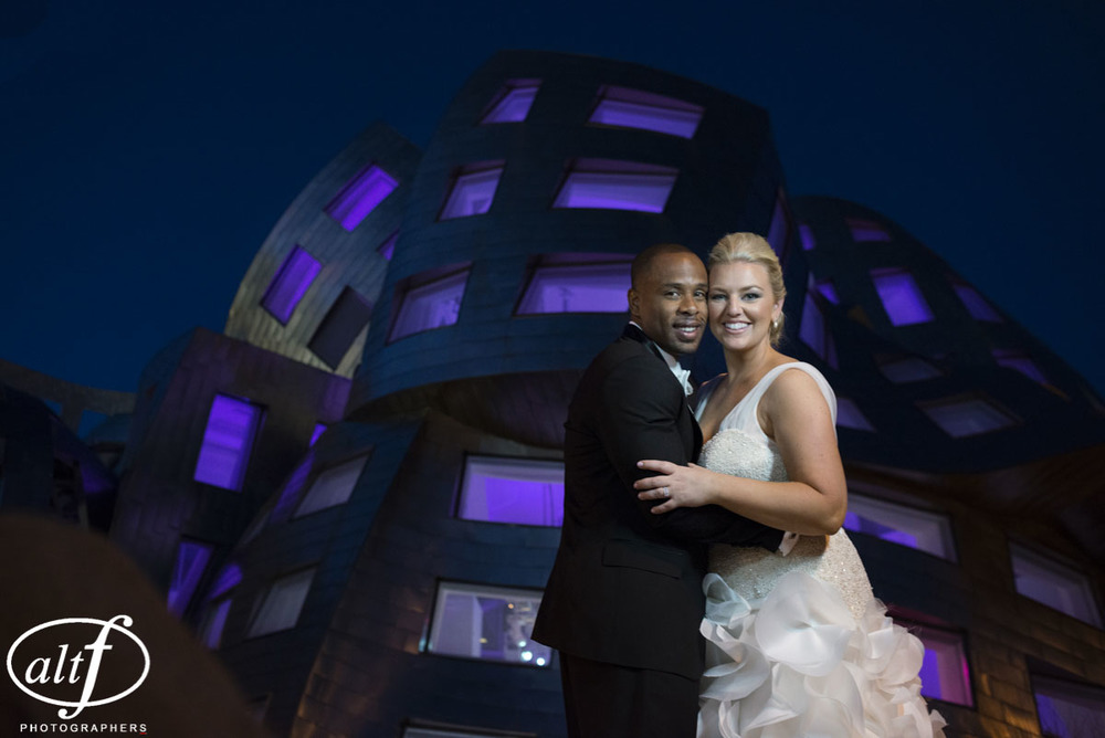 Hayley & Bryan - Bridal portraits in front of the Keep Memory Alive Events Center. Luxury Las Vegas Wedding Planner.