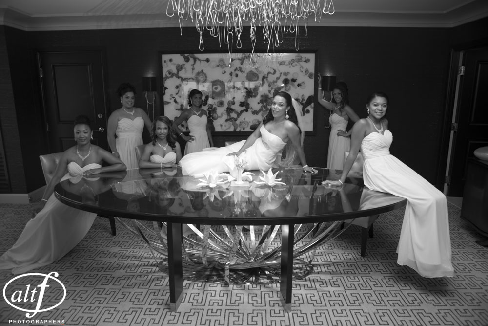 Bridesmaids.    Las Vegas Wedding Planner: Andrea Eppolito  Venue:  Wedding at the Four Seasons Las Vegas