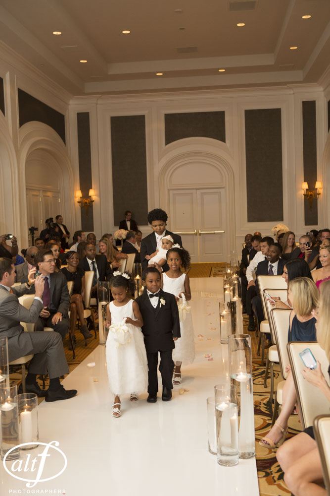 I love seeing kids at a wedding!  The couple's five children walked down the aisle!    Las Vegas Wedding Planner Andrea Eppolito  |  Wedding at the Four Seasons
