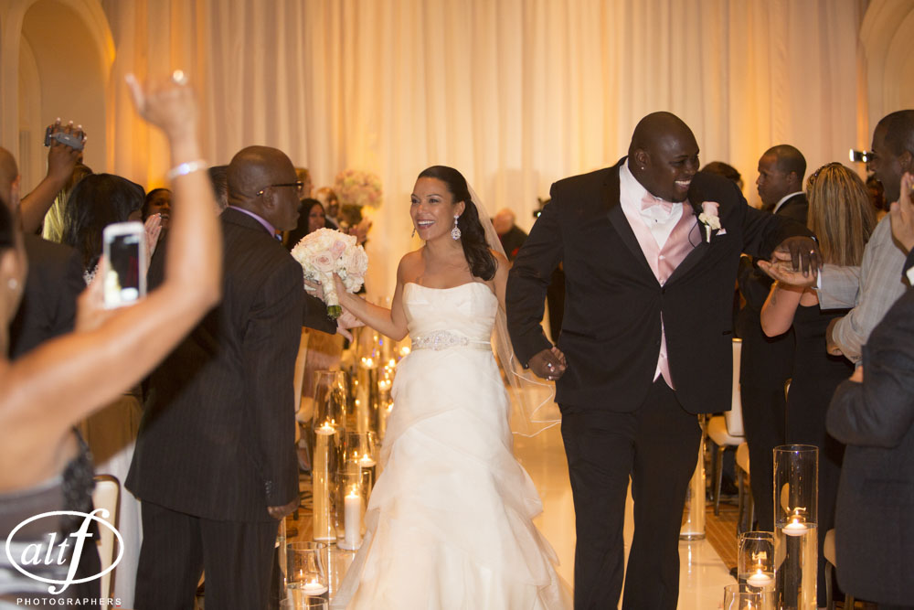 The happily married Rocky Bernard and Halona Grimes. Las Vegas Wedding Planner  |  Wedding at Four Seasons Las Vegas
