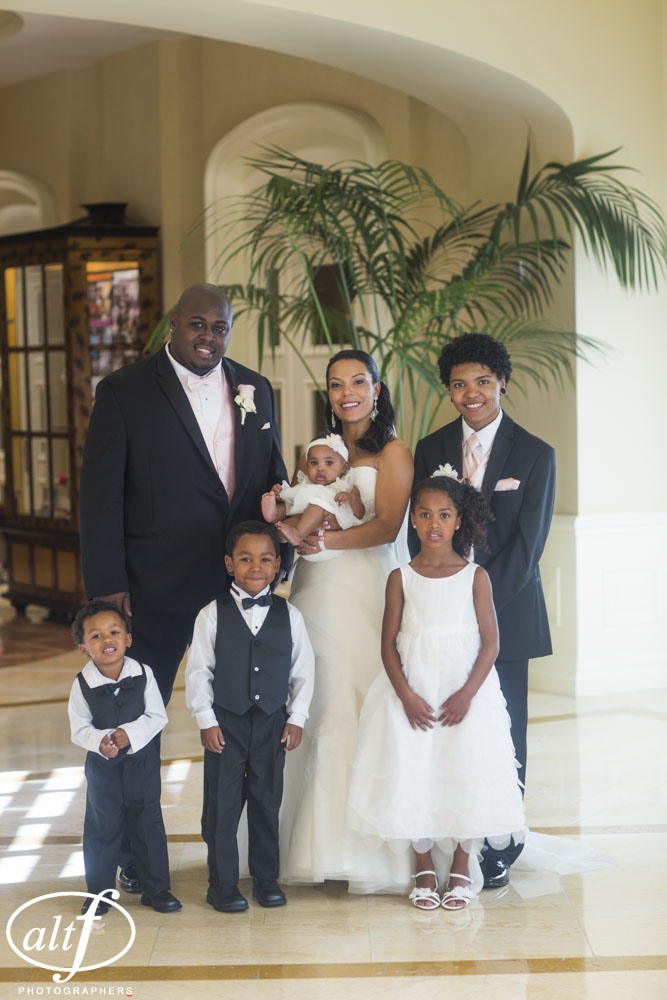 Family Portrait at a Wedding at The Four Seasons Las Vegas.