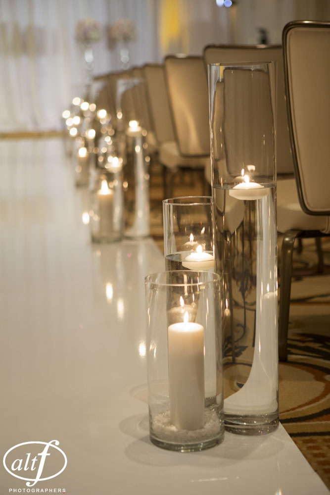 Candle Lit Aisle - Las Vegas Wedding Planner Andrea Eppolito at the Four Seasons.