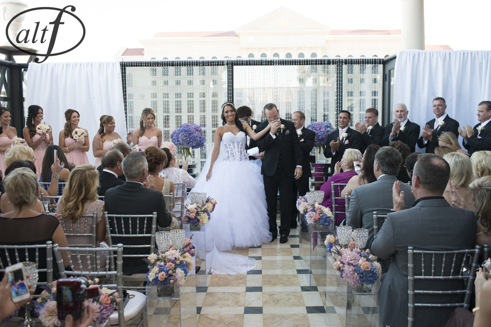 Megan and Alan Bridges | Las Vegas Wedding Planner Andrea Eppolito  |  Venue:  Caesars Palace  |  Decor by Naakiti Floral