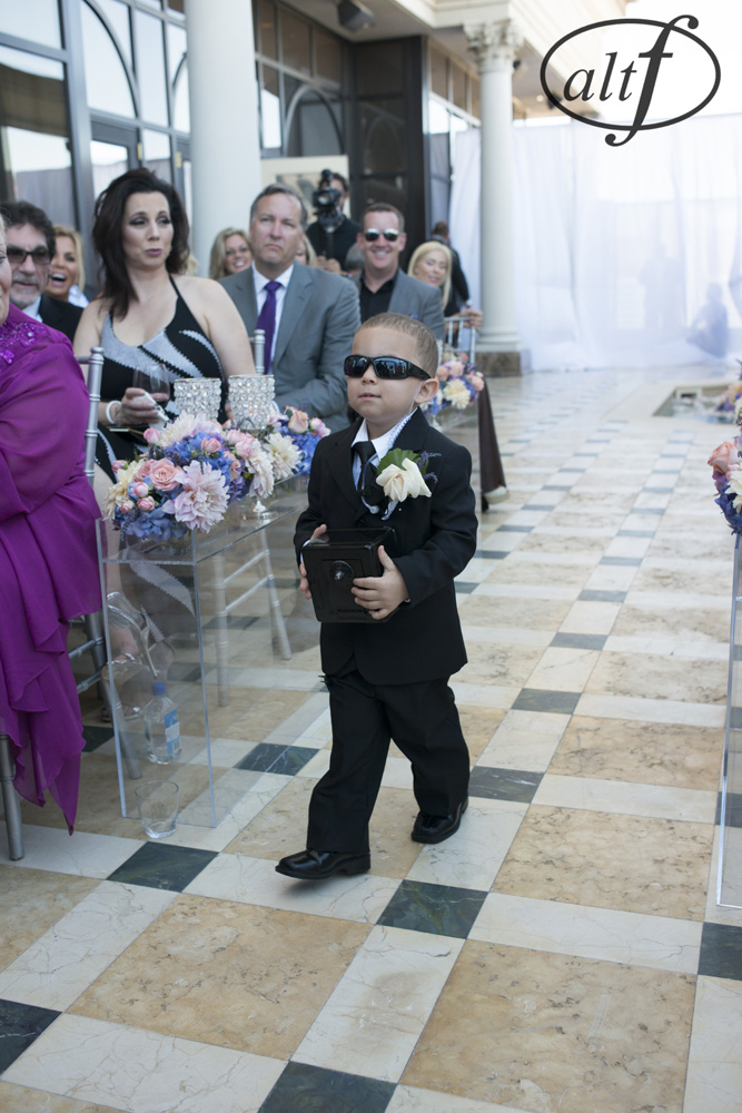 The Ring Bearer Served as Mini Security