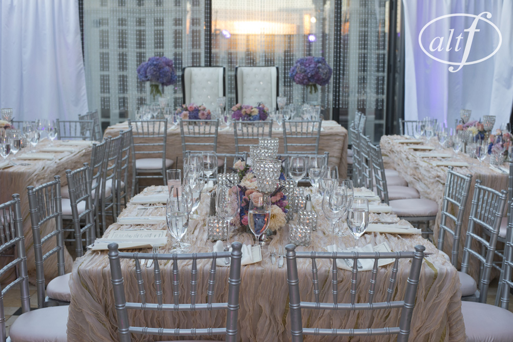 Las Vegas Wedding Reception on a Balcony