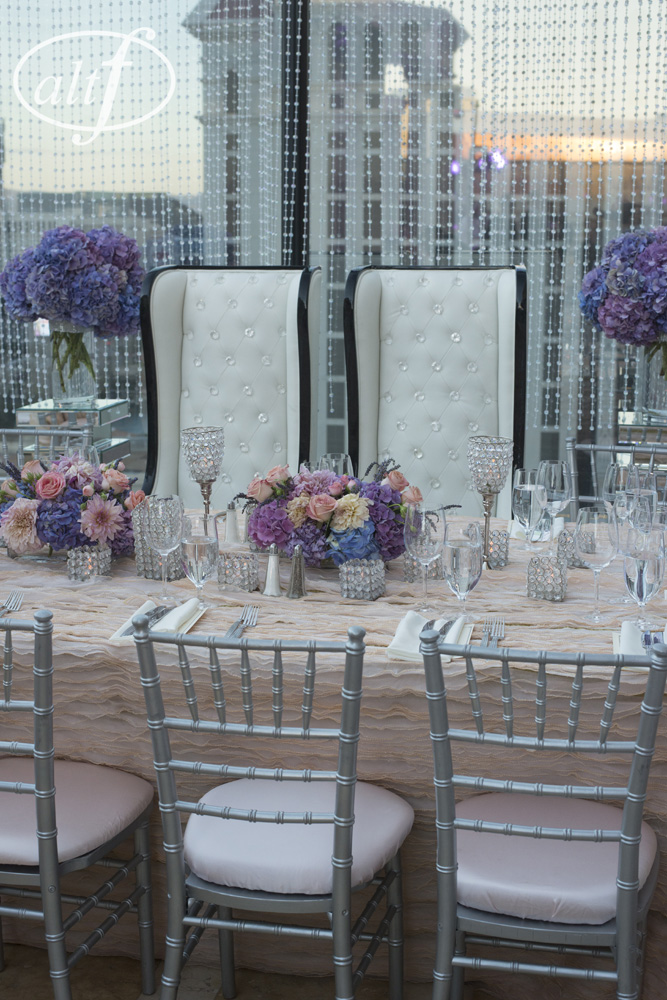 Wing Backed Chairs for the Bride and Groom
