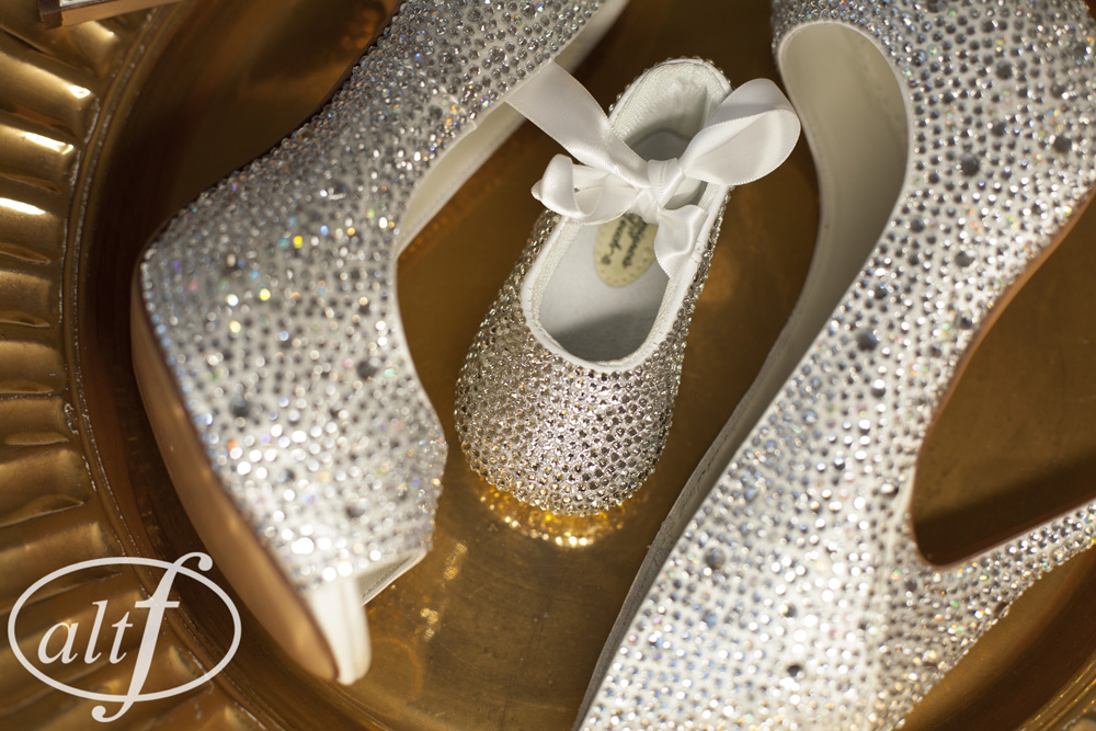 Crystal Wedding Shoes and Baby Boots