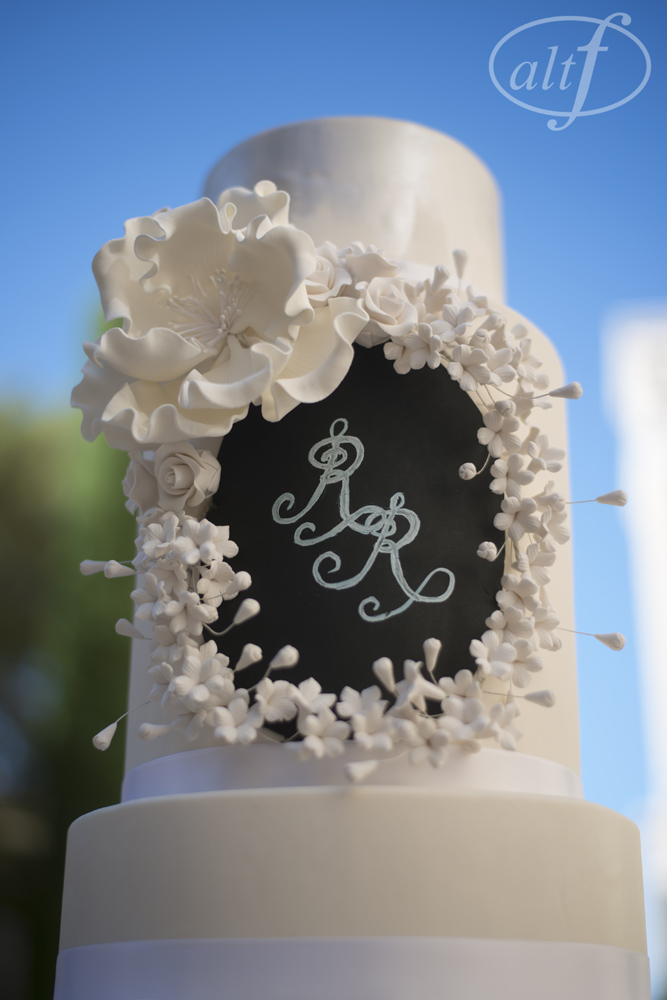 Monogram on a Chalk Board Cake