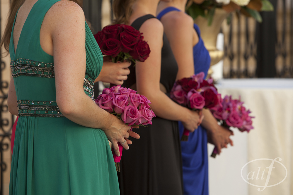 Bridesmaids in Jewel Tones