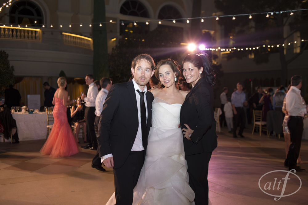 Bride and Groom with Wedding Planner Andrea Eppolito