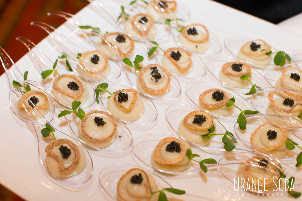Hors d'Oeuvres by The Venetian.  WIPA Las Vegas Cocktail Hour at The Venetian - Masquerade Theme. Speaker Wendy Dahl  |  Las Vegas Wedding Planner Andrea Eppolito  |  Orange Soda Photography