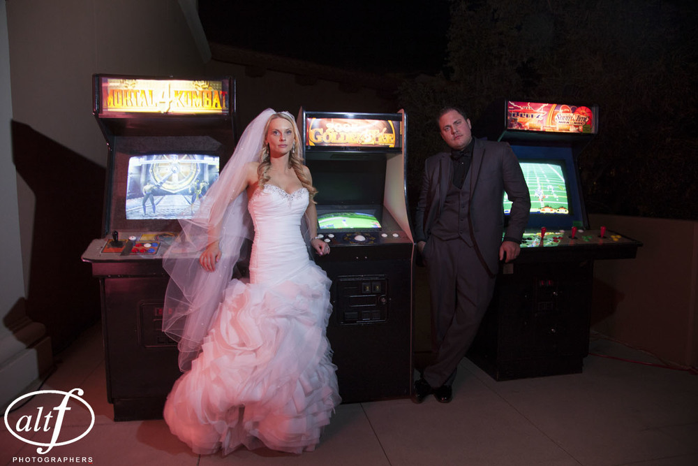 Gamers.   Amy & Eric Noe.    April 2014.  Photo by   Altf Photography  .    Best Wedding Photos of the Year 2014.
