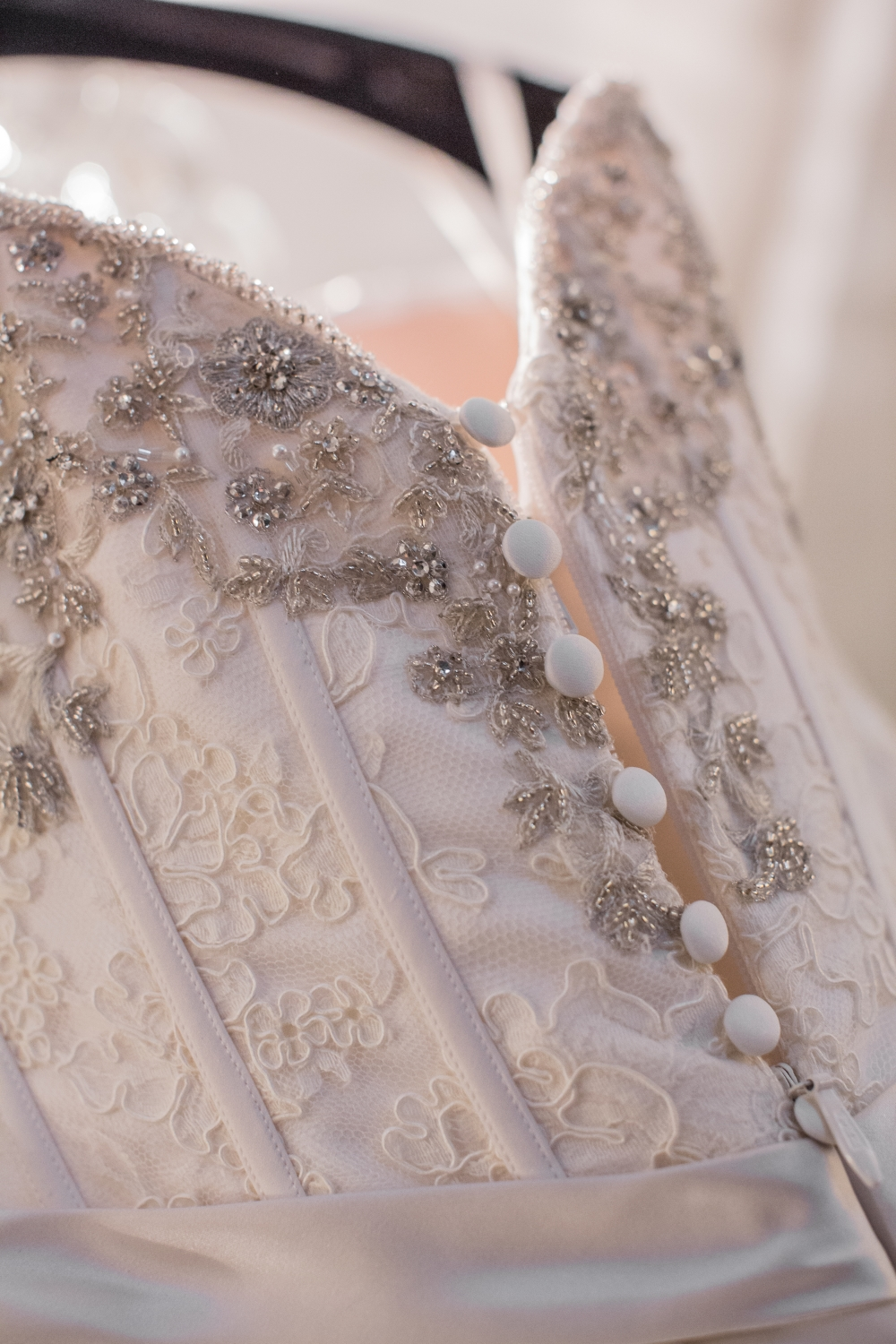 Buttons Down the Back of the Wedding Dress