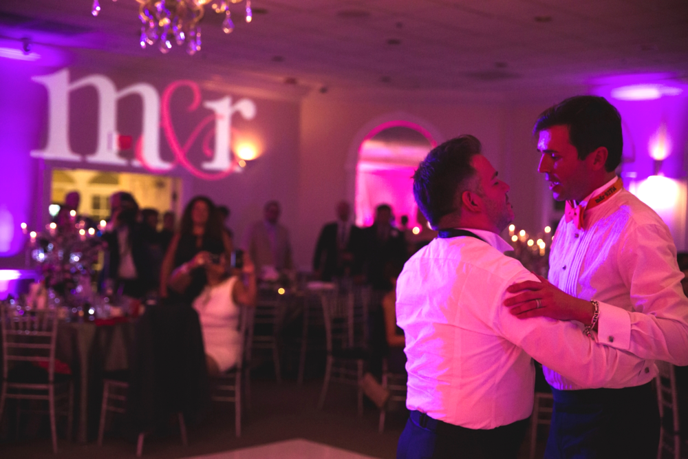 "We took the lights way down for the couple's first dance to John Legend's ""All Of Me"". Destination Wedding Planner Andrea Eppolito  