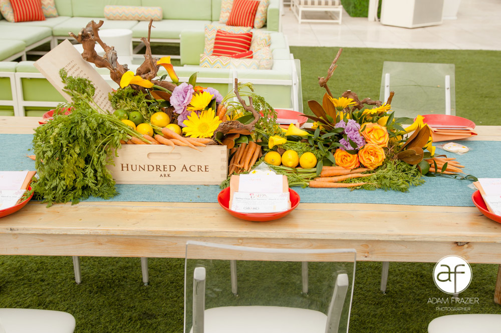 Fruit & Flower Tables at PICNIC at The Downtown Grand.