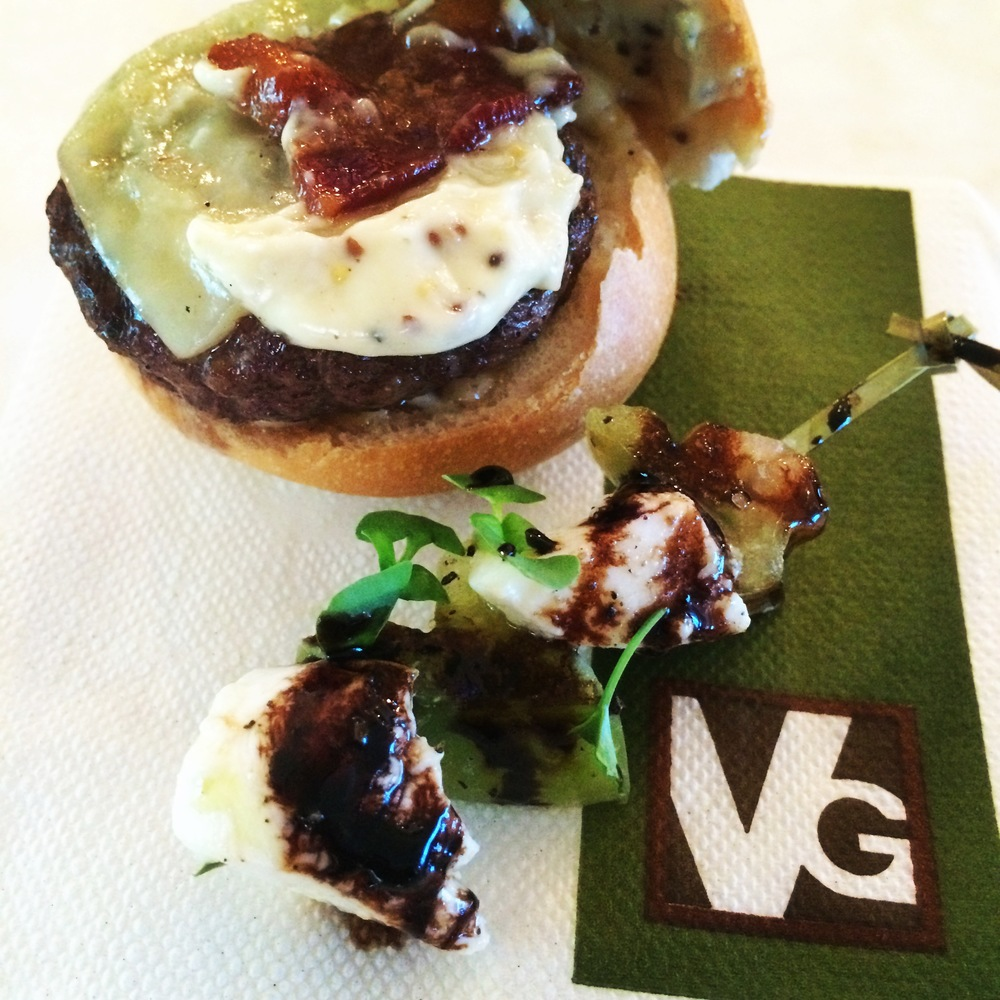 Oh, hello tasty slider!  And yummy skewer!  From Hayley Heard's Bridal shower at Vintner Grill.