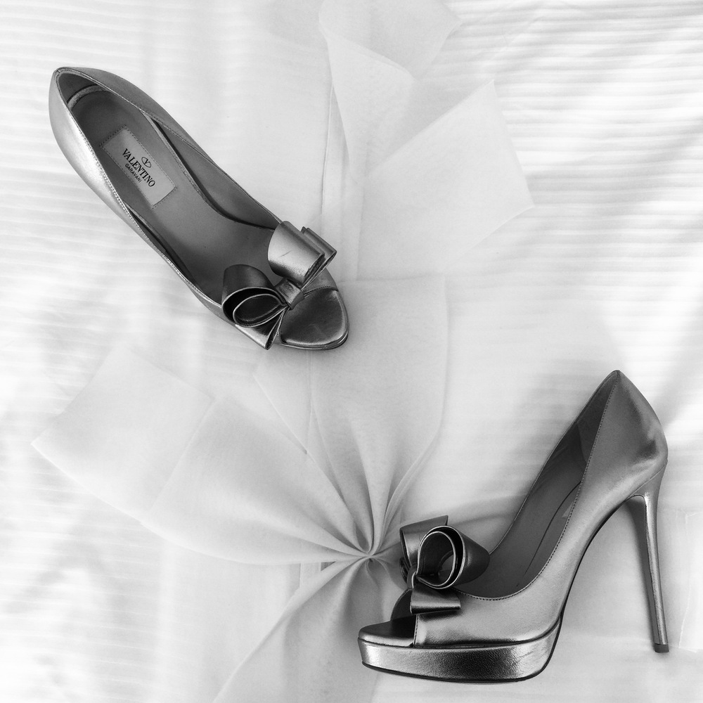 Bold shoe shot in Black and White.