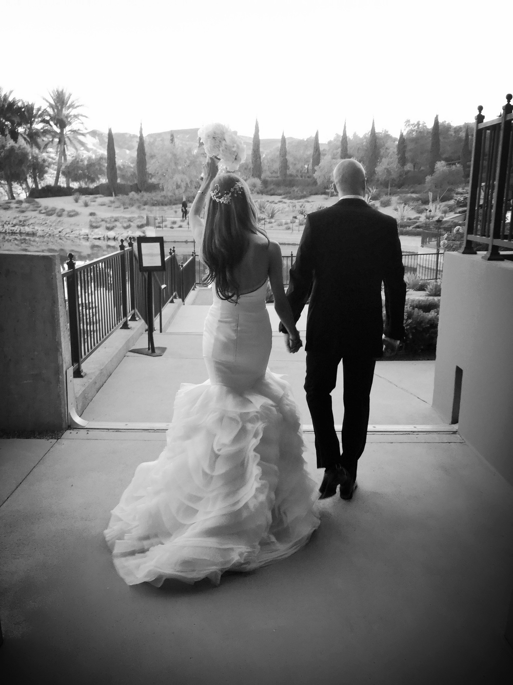 Introducing Mr. & Mrs. Oliver.  Wedding at The Westin Lake Las Vegas.