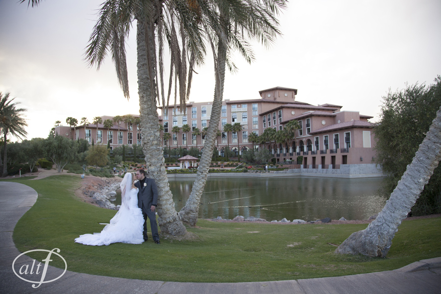Amy & Eric Noe hosted a gorgeous wedding at The Westin Lake Las Vegas on Saturday, April 5, 2014.  Photo by AltF Photography.