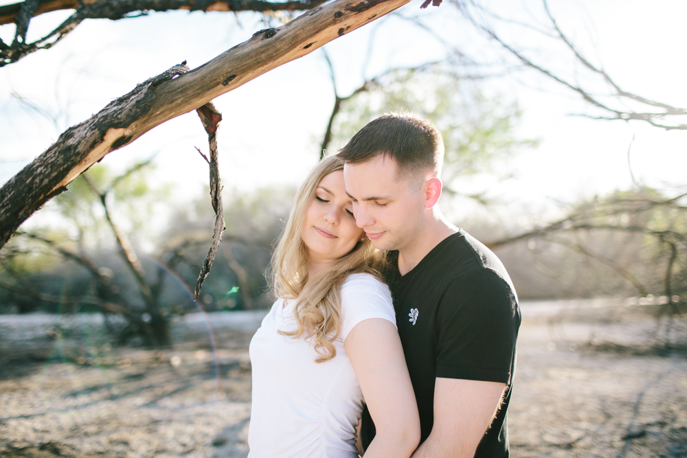 The engagement photos of Karolina and Ross Griswold in the Las vegas wetlands.  Photos by Meg Ruth.
