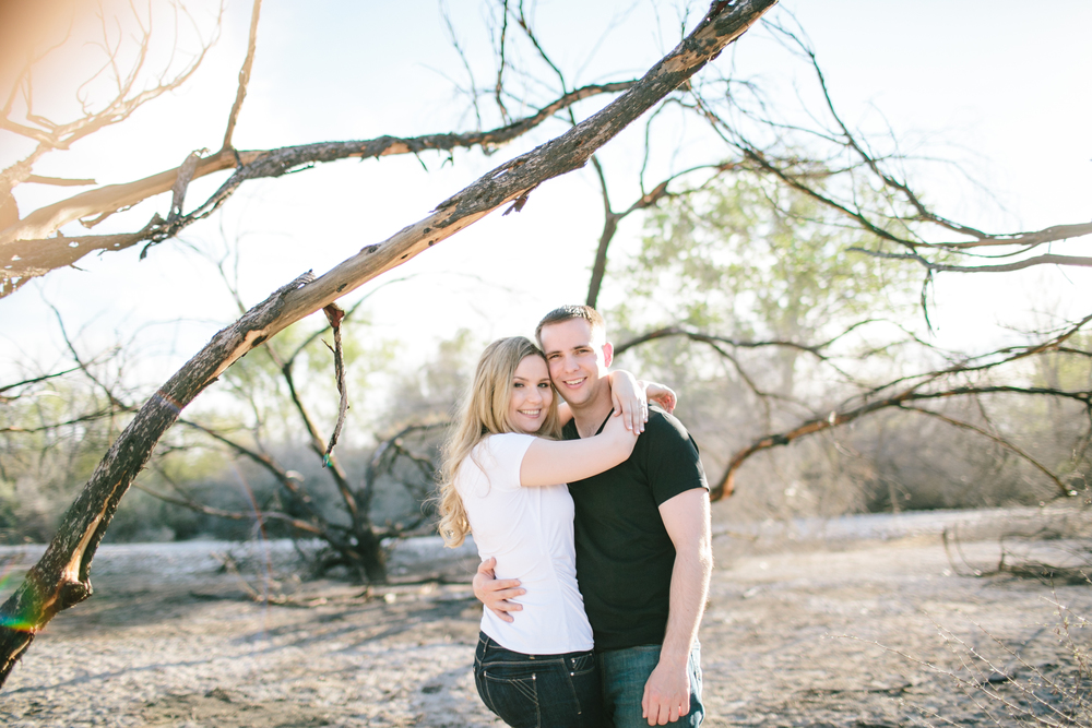 The engagement photos of Karolina and Ross Griswold were shot in the Las Vegas wetlands.  Photos by Meg Ruth.