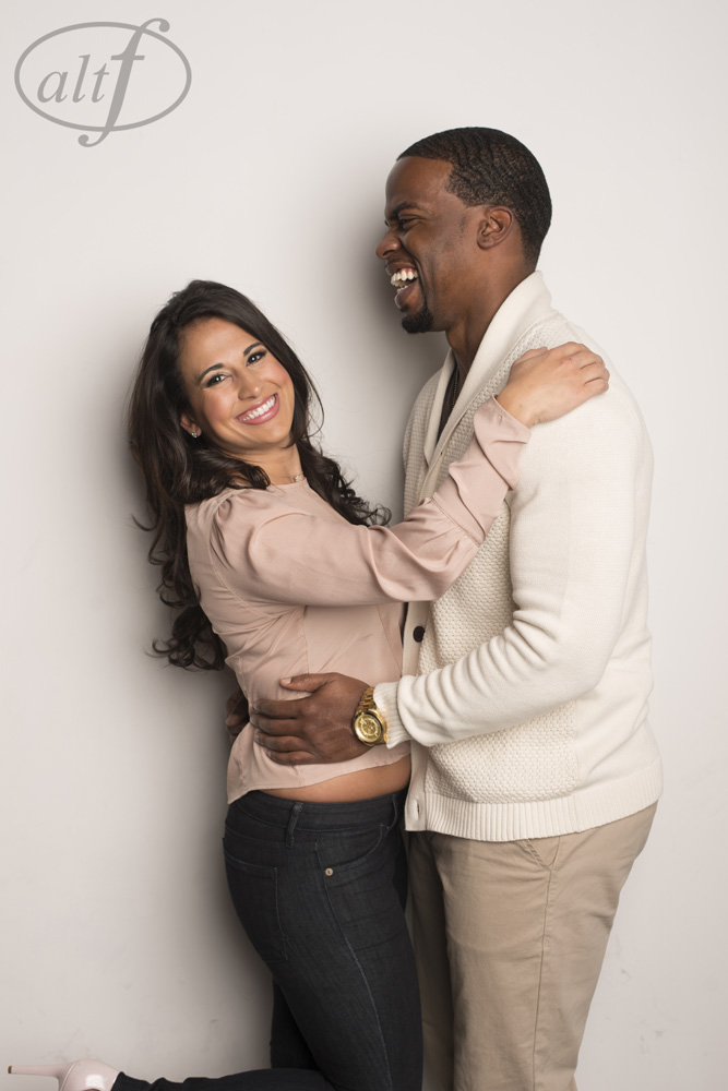 In Studio Engagement Photo by Altf Photography.