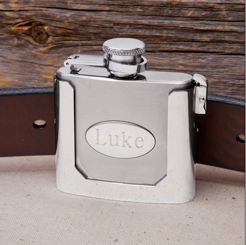 The flask is one of those groomsmen gifts that never goes out of style.  Photo courtesy of The Groovy Groomsmen Gifts.com.