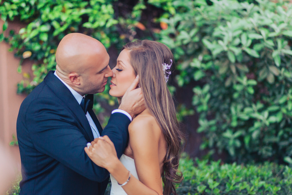 LOVE - what a great moment just before they kissed.      Las Vegas Wedding Planner Andrea Eppolito  |  Wedding at Lake Las Vegas  | White and Blu  sh and Grey Wedding | Luxury Wedding Las Vegas
