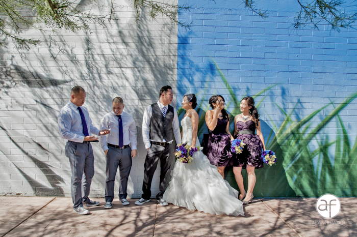 Non traditional bridal party photos