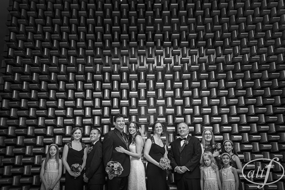 The Gold Wall in Black and White