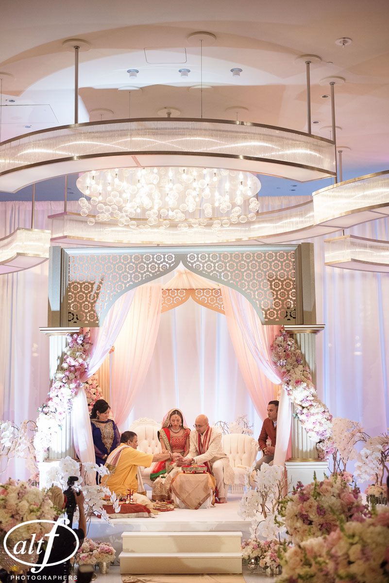 Indian Wedding Ceremony at the Mandarin Oriental.  Las Vegas Wedding Planner Andrea Eppolito.  Photo by Altf.