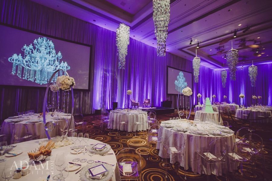 Las Vegas Wedding Planner Andrea Eppolito shares photos of the Pinyon Ballroom at ARIA Las Vegas; taken at the WIPA Meeting of June 2015.  Wedding decor by MGM events.