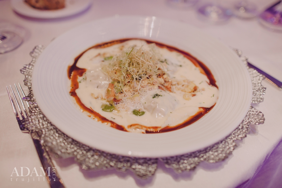 Indulgence - The short rib ravioli.  Las Vegas Wedding Planner Andrea Eppolito shares photos of Aria's Wedding Menu