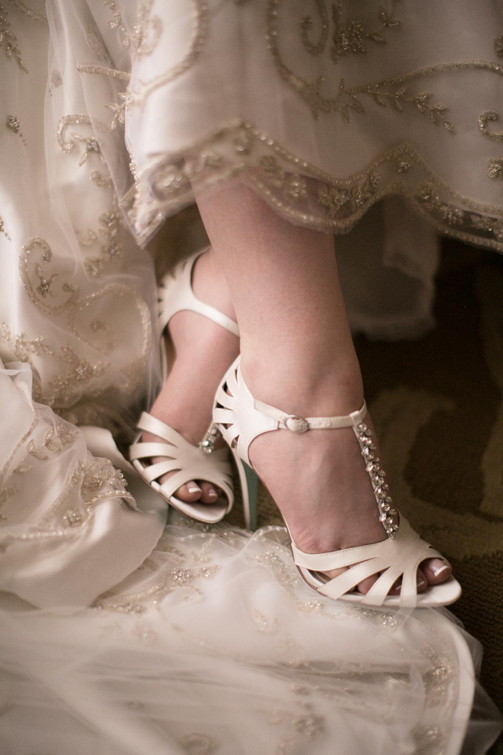 T strap vintage wedding shoes. Las Vegas Wedding Planner Andrea Eppolito  |  Wedding at The Venetian Las Vegas  |  Florals and Decor by Naakiti Floral  |  Photos by Meg Ruth