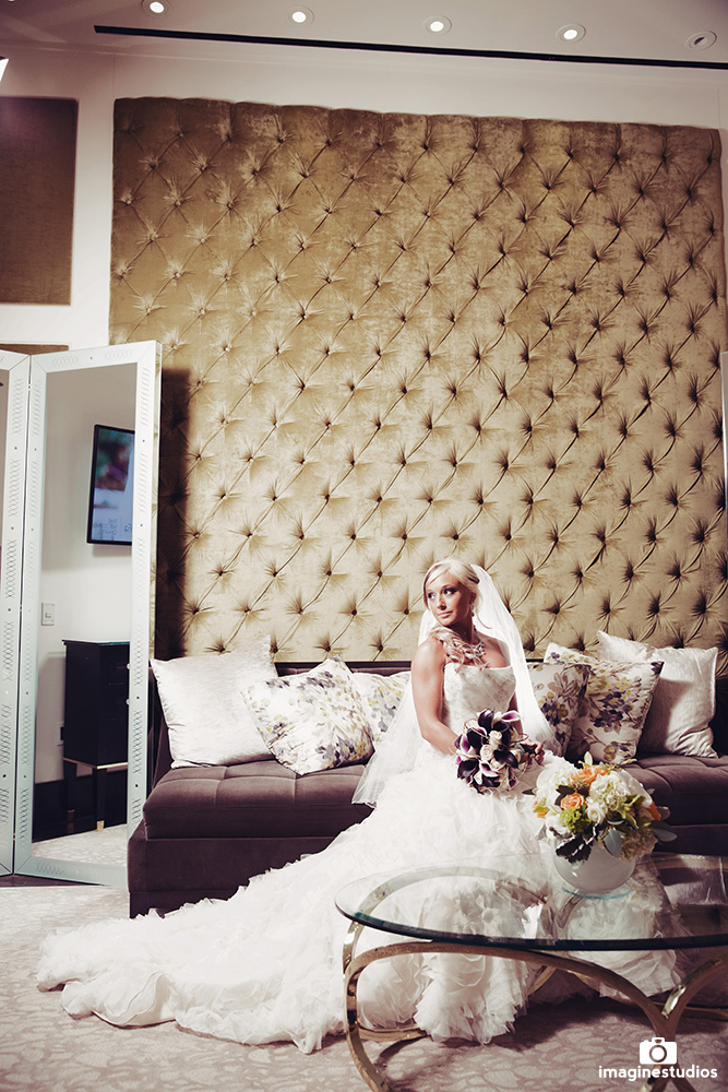 The Bridal Lounge & Bridal Dressing room at the ARIA Chapel.  The Wedding Chapel at ARIA Las Vegas is endorsed by Luxury Las Vegas Wedding Planner Andrea Eppolito.