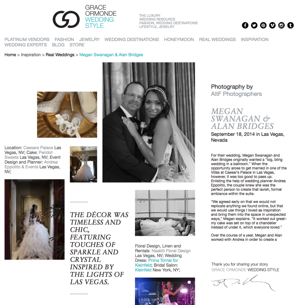 Las Vegas Wedding Planner Andrea Eppolito as featured on the Grace Ormonde Wedding Style Blog.