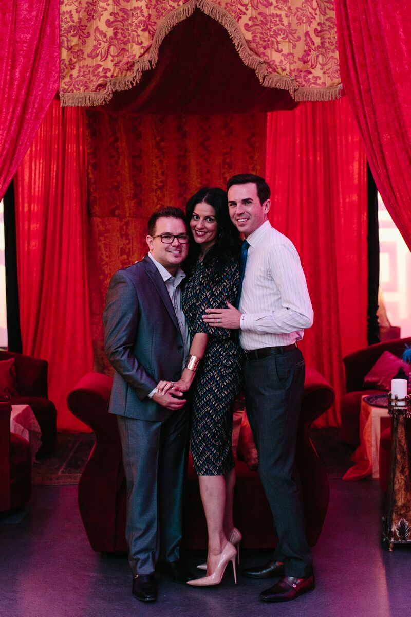Newlyweds Rocco Gonzalez and Marek Bute with Las Vegas Wedding Planner Andrea Eppolito