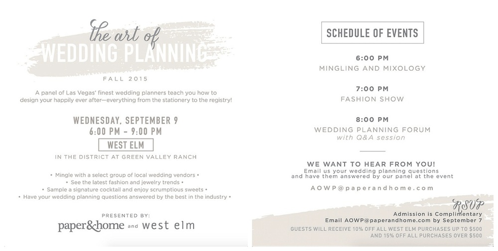 Professional Speaker and Wedding Expert, Las Vegas Wedding Planner Andrea Eppolito will sit on the panel of experts for The Art of Wedding Planning, Fall 2015