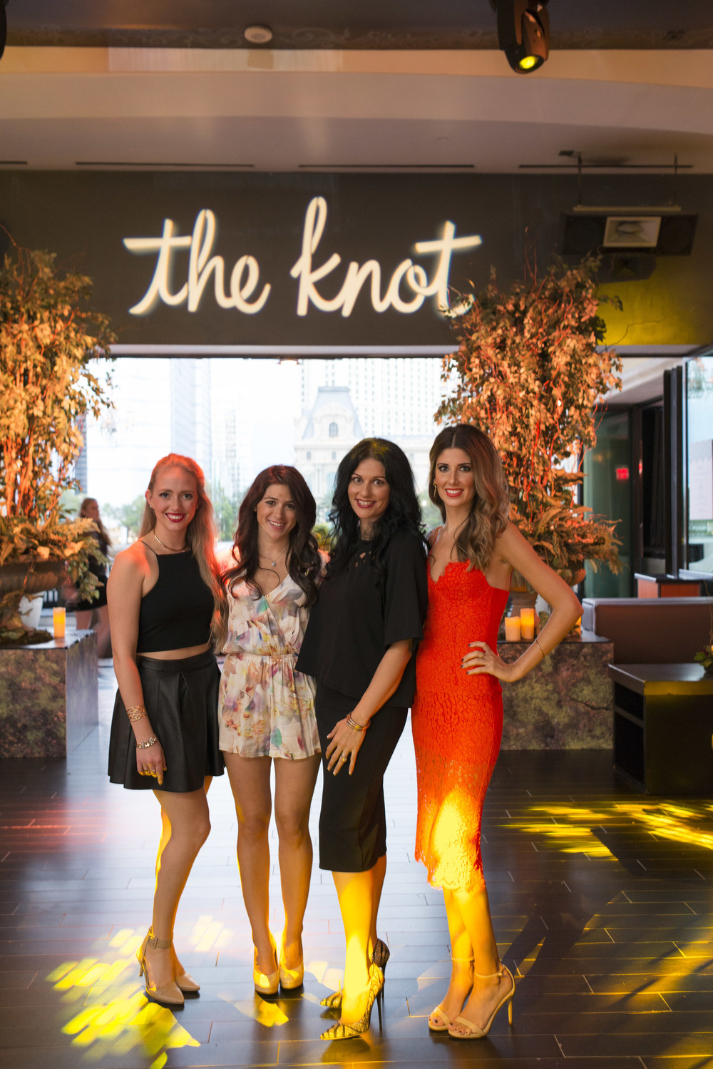 Las Vegas Wedding Planner and Event Designer Andrea Eppolito with the Event Team from The Knot.  Andrea was hired by The Knot the produce #TheKnotRocksWMBA2015.  Photo by Altf Photography.