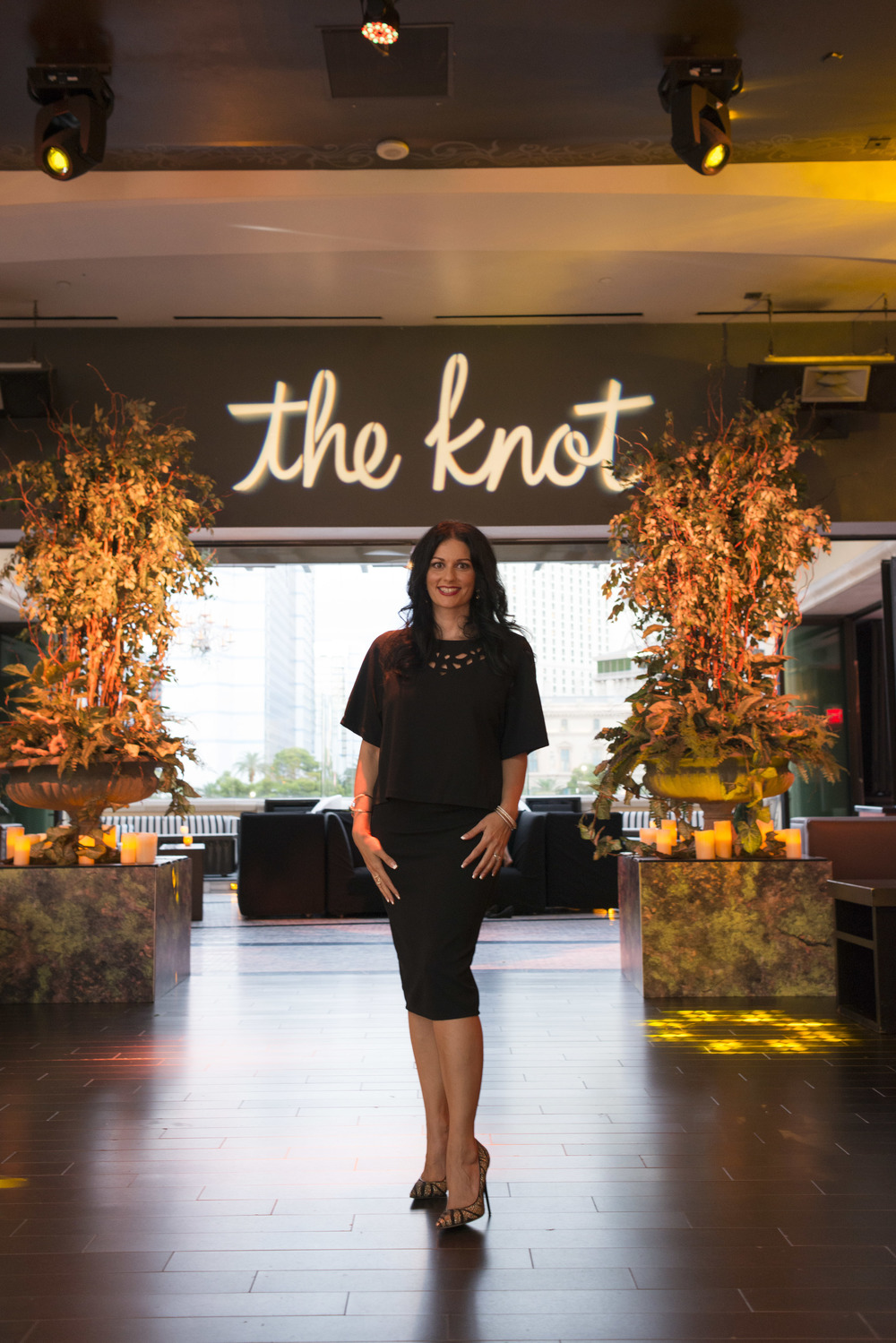 Las Vegas Wedding Planner and Event Designer Andrea Eppolito was hired by The Knot the produce #TheKnotRocksWMBA2015.  Photo by Altf Photography.