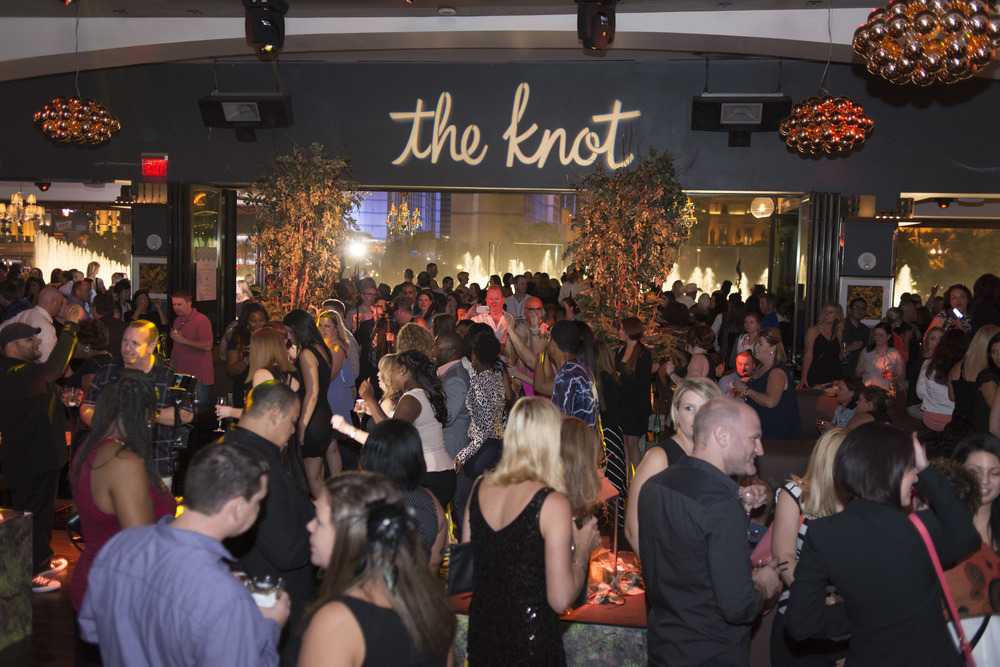 The Knot Pro Party at Hyde Bellagio.  Photo by Altf.com  Event Planning and Design by Las Vegas Wedding Planner Andrea Eppolito.  Decor by By Dzign.