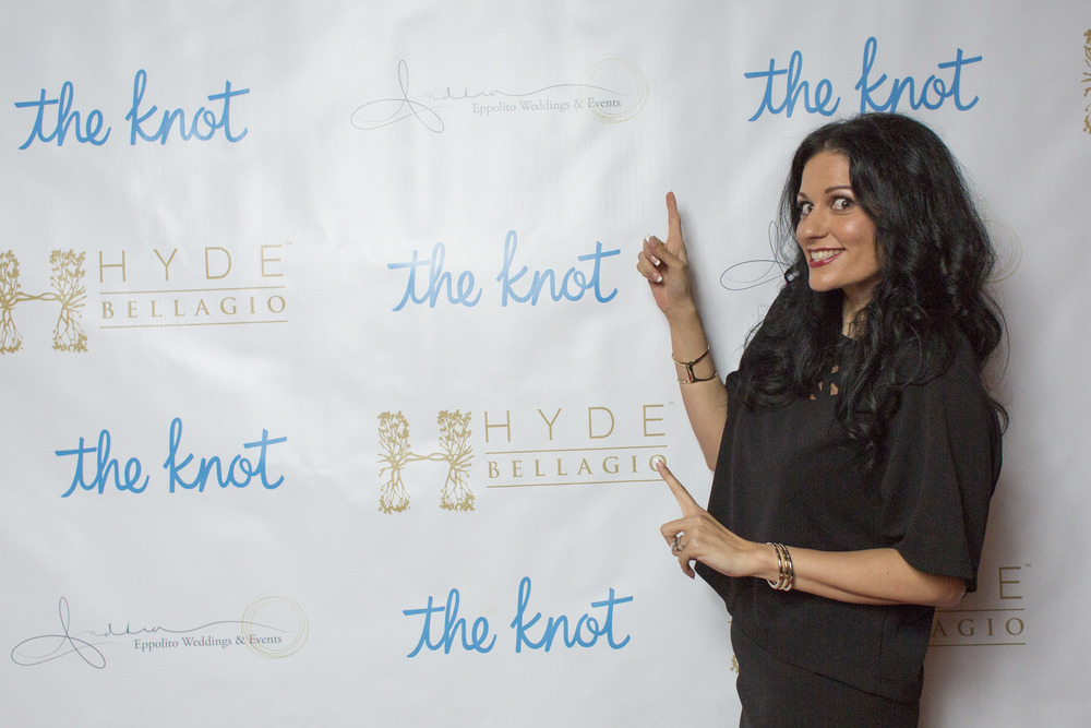 I love seeing my logo on the Step & Repeat!  Photo by Altf.com  Event Planning and Design by Las Vegas Wedding Planner Andrea Eppolito.  Decor by By Dzign.