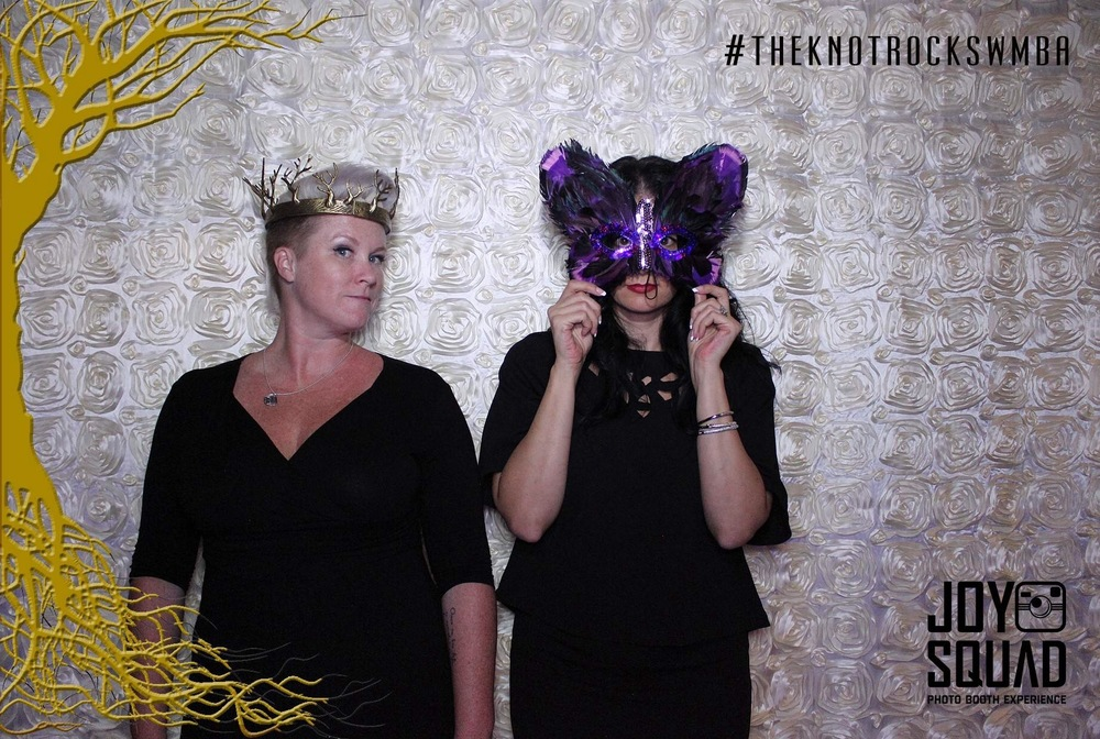 Too much fun with great friends atWhat does the fox say?  The hunter and huntress feeling was brought to live with model wearing masks that beckoned you into the space.  The Knot Pro Party at Hyde Bellagio.  Photo by Altf.com  Event Planning and Design by Las Vegas Wedding Planner Andrea Eppolito.  Decor by By Dzign.