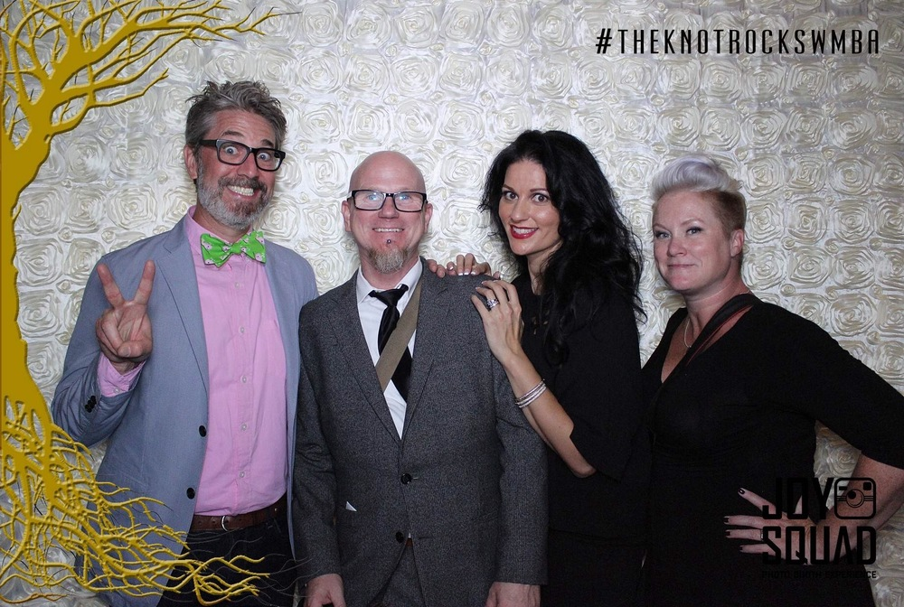 WPPI President and Altf with Las Vegas Weddign Planner Andrea Eppolito.  The Knot Pro Party at Hyde Bellagio.  Photo by Altf.com  Event Planning and Design by Las Vegas Wedding Planner Andrea Eppolito.  Decor by By Dzign.