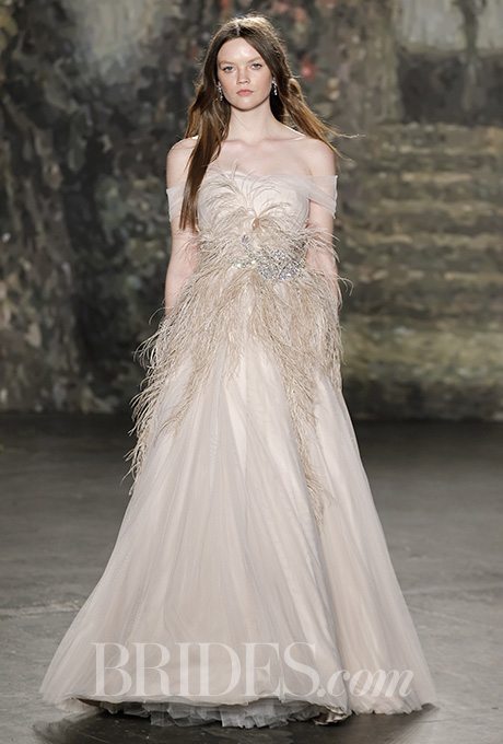 Both sweet and sophisticated at Jenny Packham.  Photo Courtesy of Brides.com