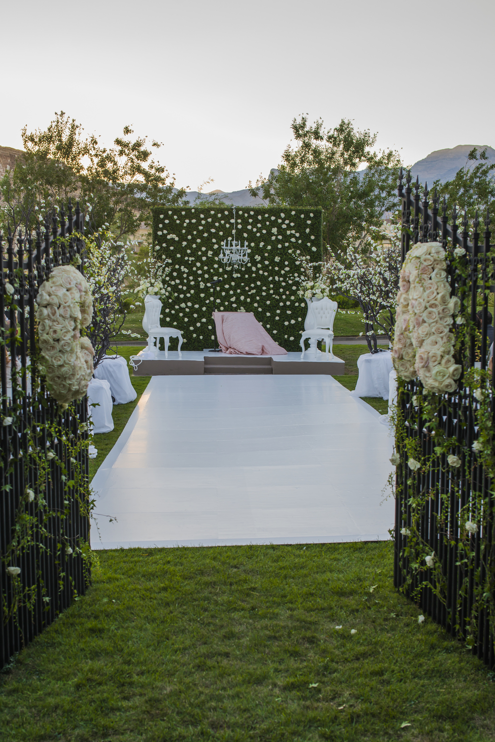 A European Garden Inspired Wedding Was Made Modern And Fresh With White  Furniture And A High