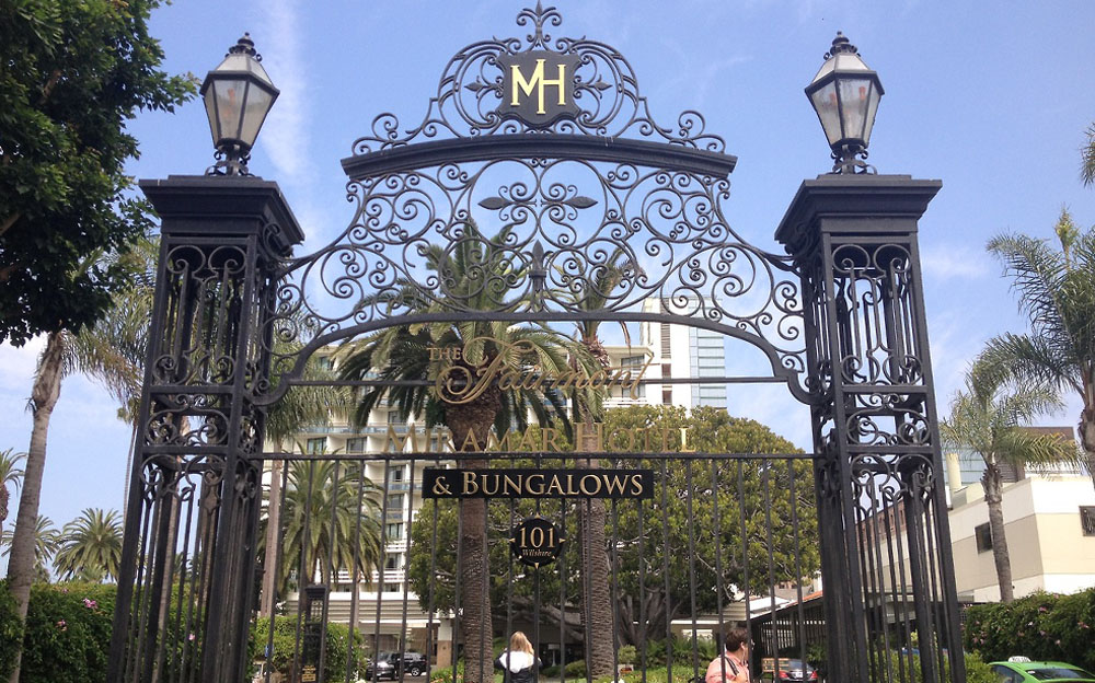 The Fairmont Hotel and Bungalows is both historical and beloved in the luxe city of Santa Monica.  Photo courtesy of The Holiday Goddess.