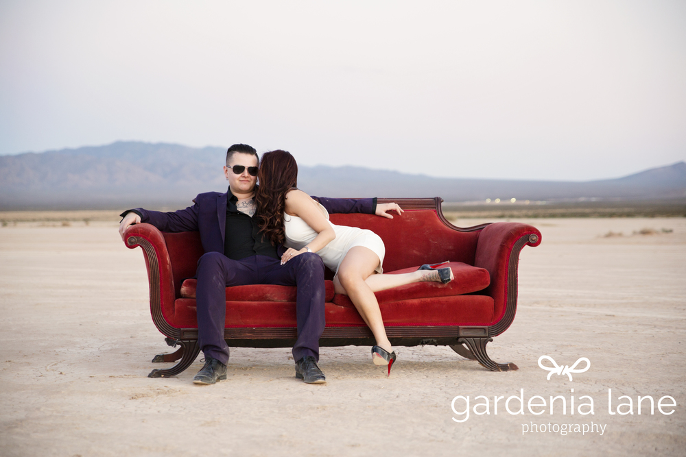Las Vegas Wedding Planner Andrea Eppolito is handling Sharon and Lane's destination wedding at the SLS.  Engagement photo by  Gardenia Lane.