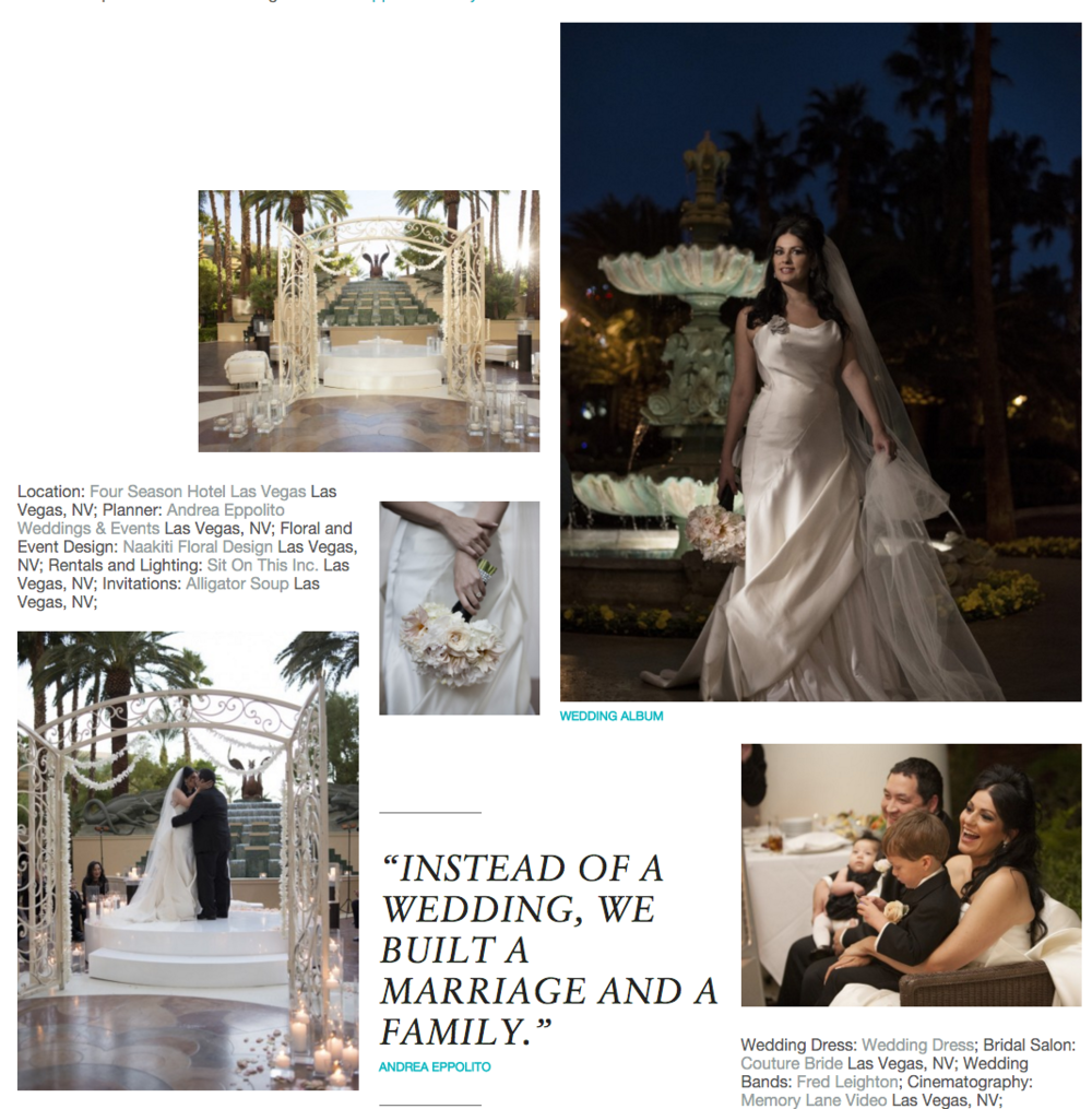 Andrea & Tony's Luxury Wedding as seen on  Grace Ormonde Wedding Style Blog.