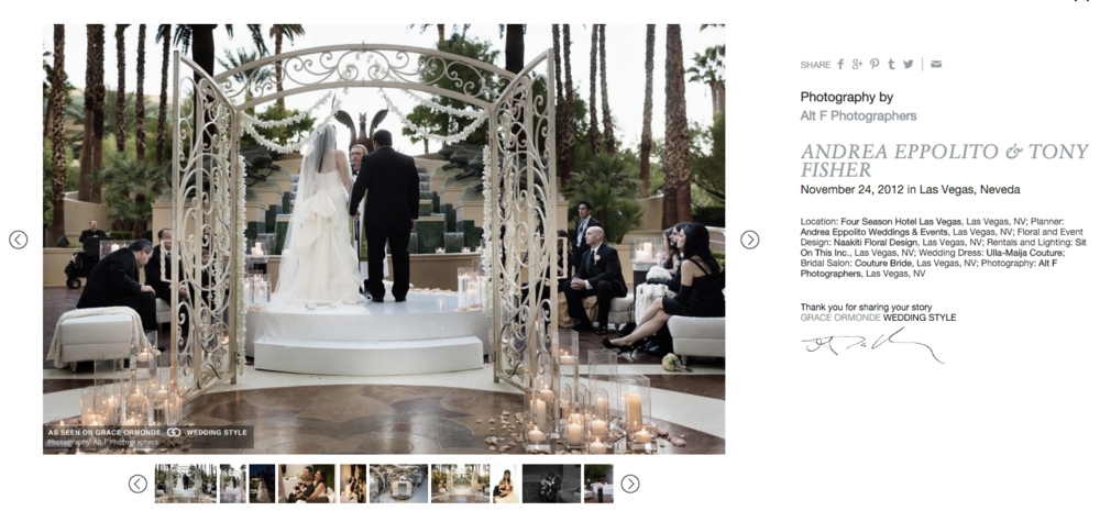 Gallery of Real Wedding images on Grace Ormonde Wedding Style.